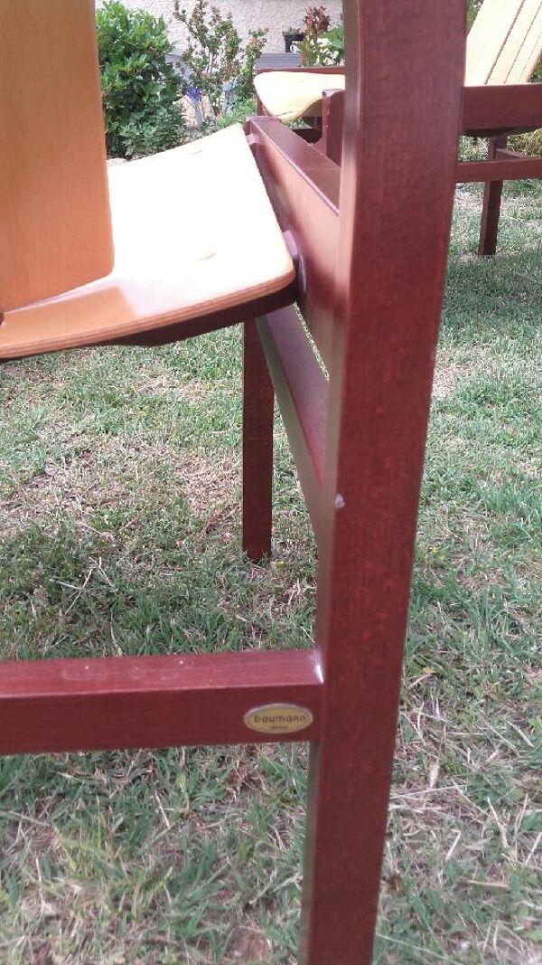 Ensemble salon Baumann - 4 fauteuils et 1 table - Vintage
