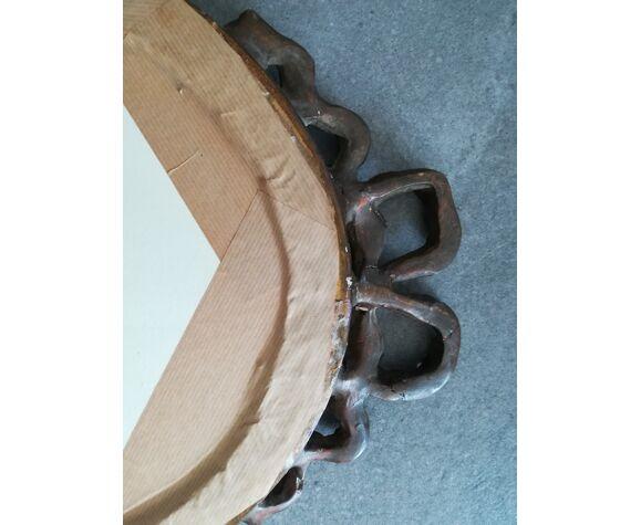 Miroir ancien ovale 37x54cm