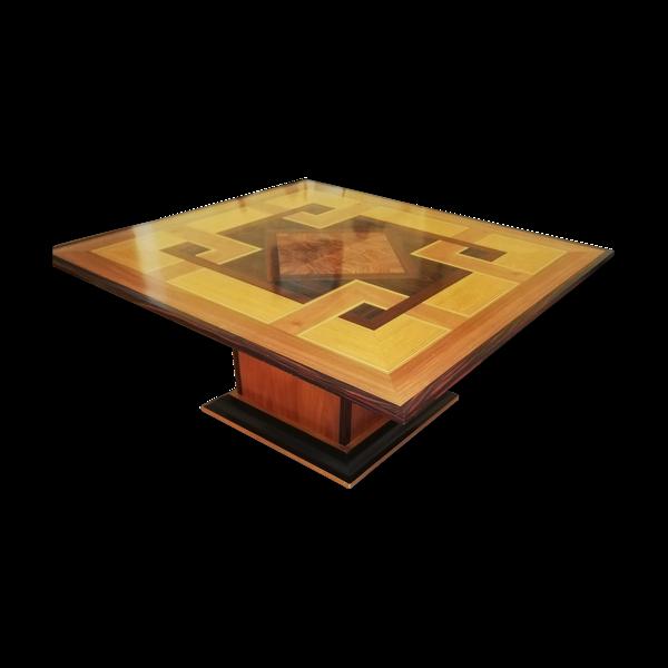 Table basse vintage marquettée