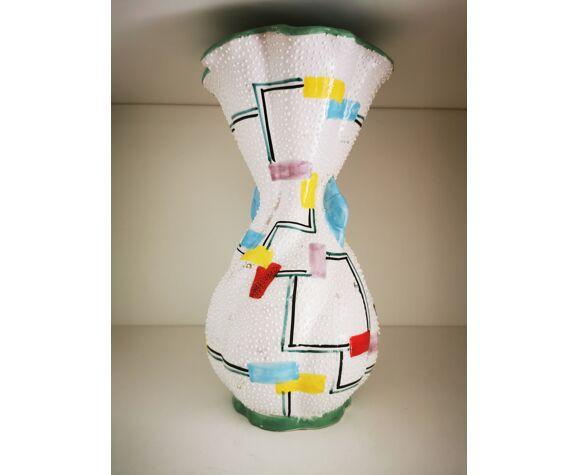 Vase céramique italienne, Deruta numéroté , artiste Volpi Serafino