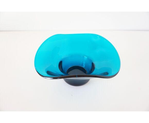 Vide poche en verre bleu 1960