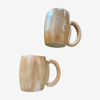 Mugs en grès arts céram grand feu