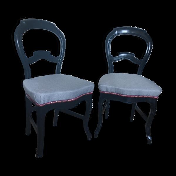 Paire de chaises Louis Philippe dossier violon