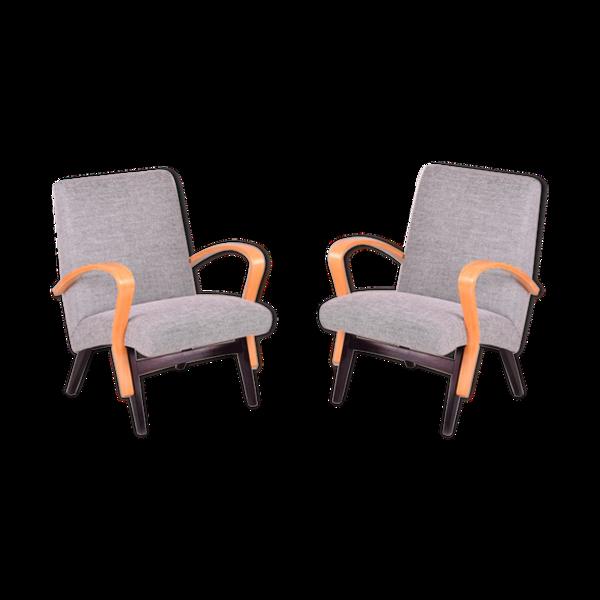 Selency Paire de fauteuils années 50