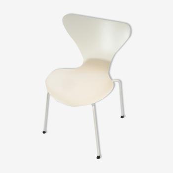 Chaise type 3107 Arne Jacobsen blanc/blanc