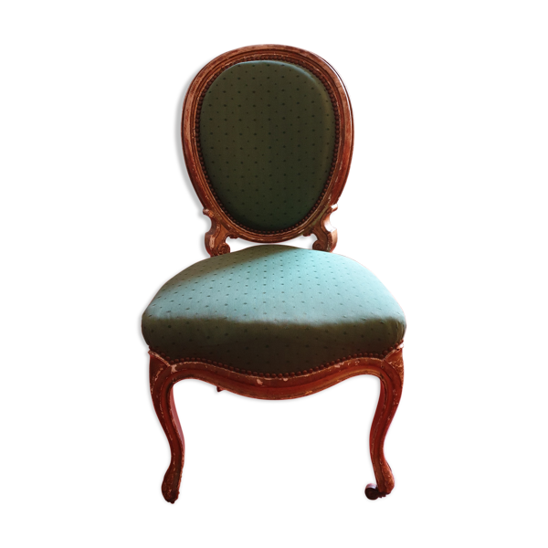 Chaise vert et or