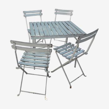 Salon jardin table pliante et 4 chaises pliantes