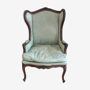 Fauteuil a oreilles style Louis XV/19 ème siècle