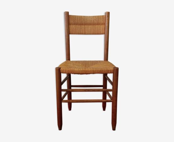 Chaise paillée ancienne