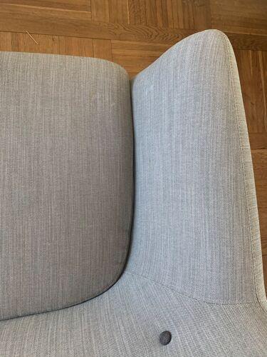 Canapé 3 places style vintage Sentou coogee gris