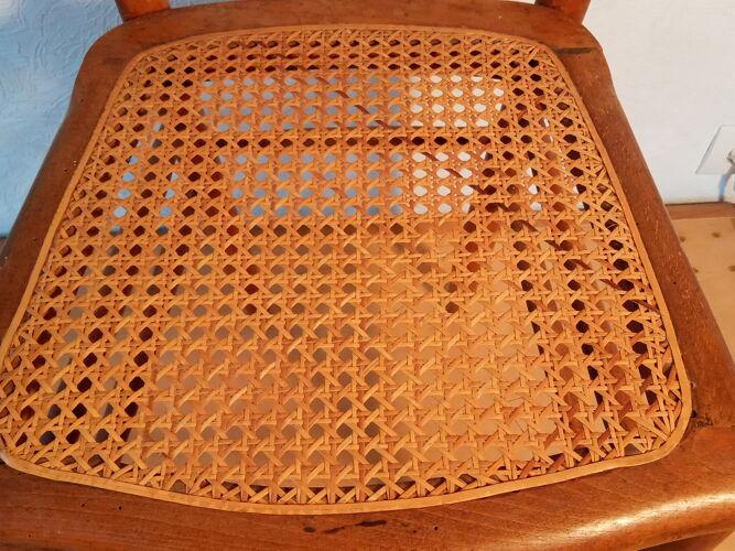 Chaise de bistrot cannée début 20ème