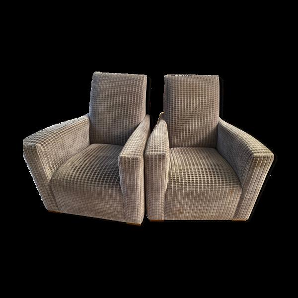 Lot de deux fauteuils Hugues Chevaliers