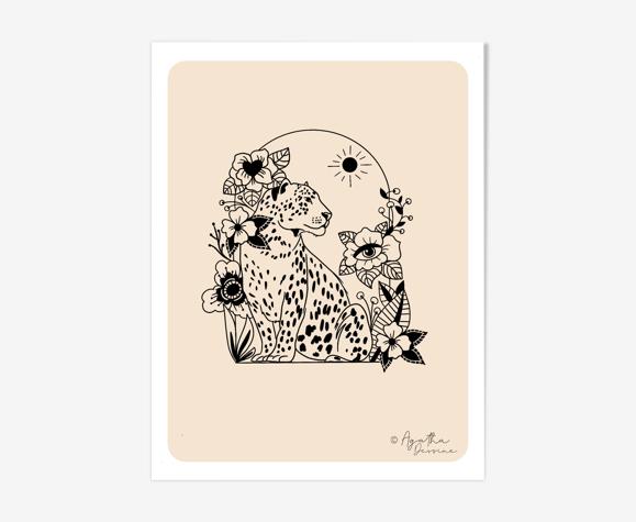 Illustration «Léopard» A4