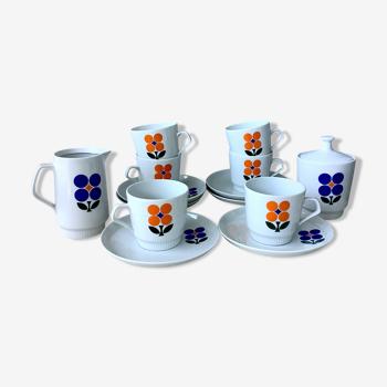 Set à café Colditz seventies en porcelaine