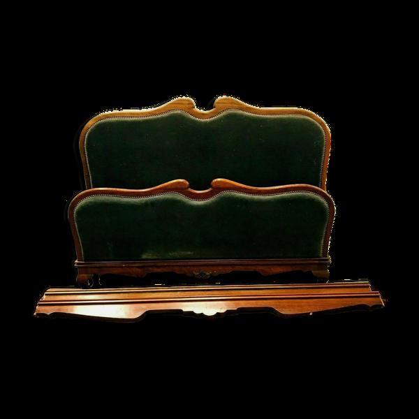 Selency Lit de style Louis XV en noyer XX siècle