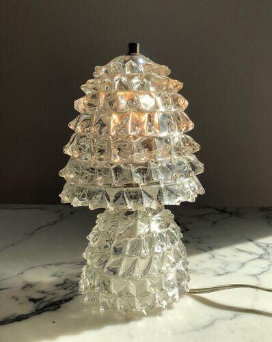 Lampe de table en verre de Murano des années 1930 par Ercole Barovier et Toso