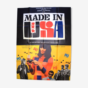 "Original movie poster ""Made in USA"" 1966 Godard, Anna Karina"