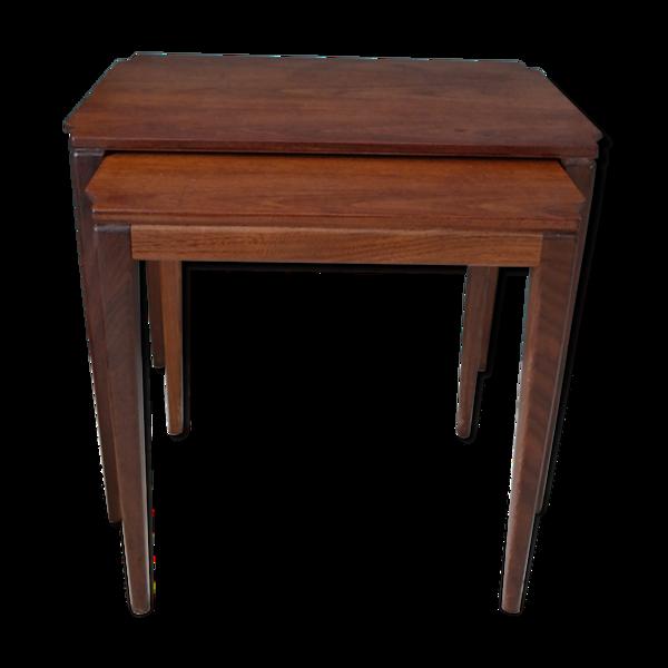 Selency Tables gigognes en teck, design scandinave