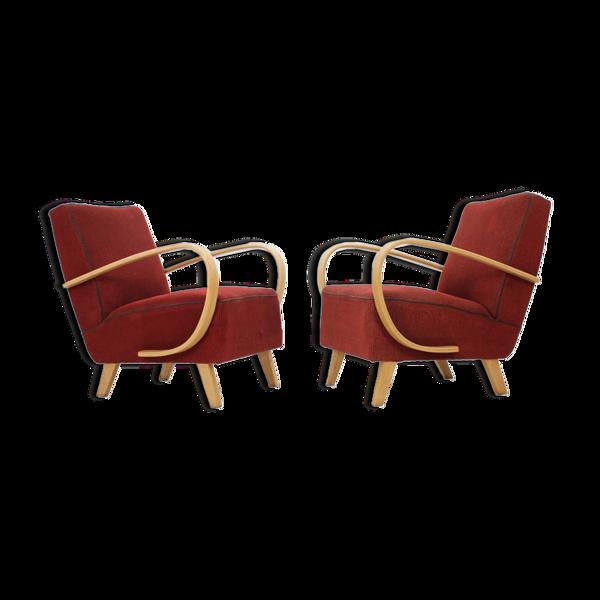 Ensemble de deux fauteuils rétro de Jind?ich Halabala, années 1950.