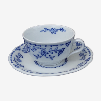 Tasse en porcelaine allemande Kalk Eisenberg kobalt blau