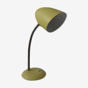 Lampe à poser jaune vintage typique des années 1950
