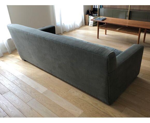 Canapé Caravane 3/4 places en tissu gris, bon état,  très confortable