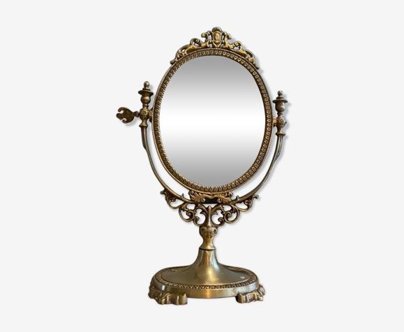 Miroir psyché en laiton 39x27cm