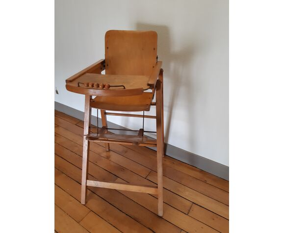 Vintage high folding chair