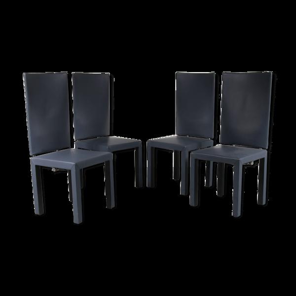 Chaises à manger Arcara par Paolo Piva, fabriquées par B&B Italia en Italie 1980