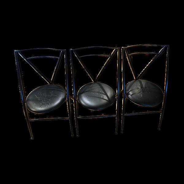 Selency Set de 3 chaises Yamakado Cinderella