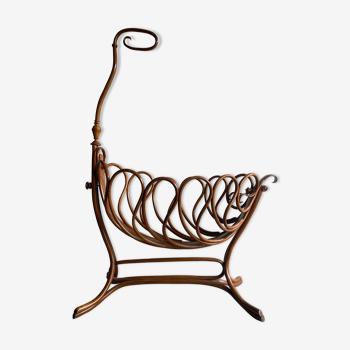 Rocking cradle rocking crib wooden cot Thonet 1900