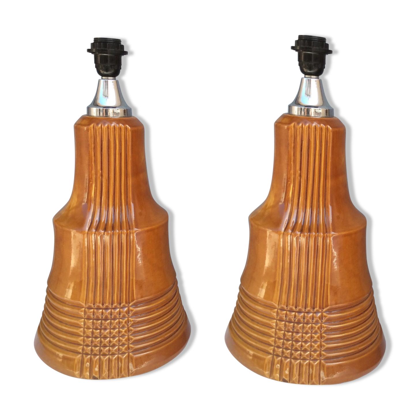 Paire de lampes en céramique, années 60