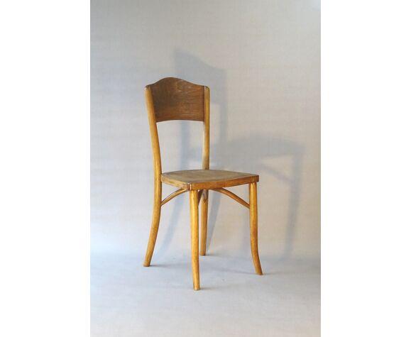 Chaise bistrot bois-courbé vers 1930 rare modèle original,marque franto