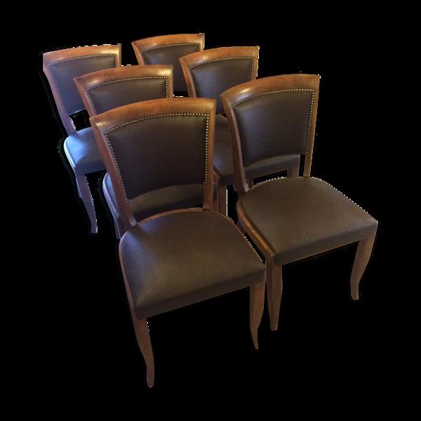 Suite de six chaises art deco
