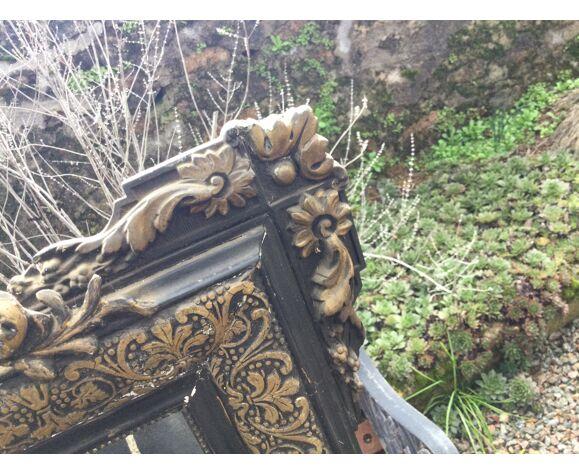 Miroir noir et doré style Napoleon III 70x105cm