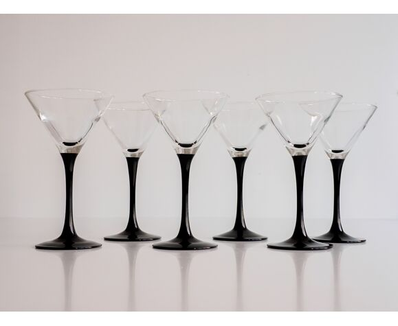 Suite de 6 verres à cocktails