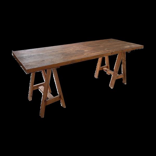 Table, plateau tréteaux