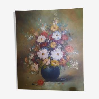 Tableau fleurs dans un vase