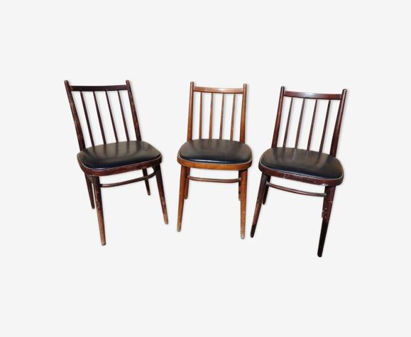 Lot 3 chaises
