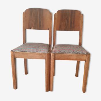 Paire de chaises art deco