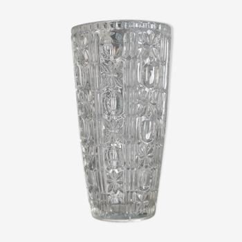 Vase en cristal vintage années 50