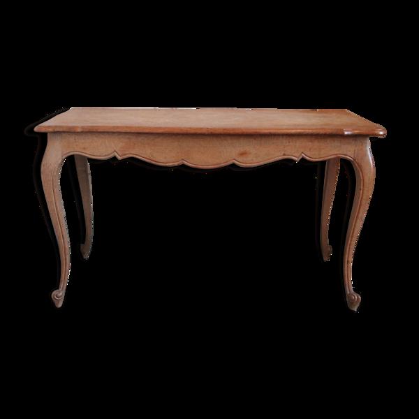 Table de salon en chêne, façon Louis XV