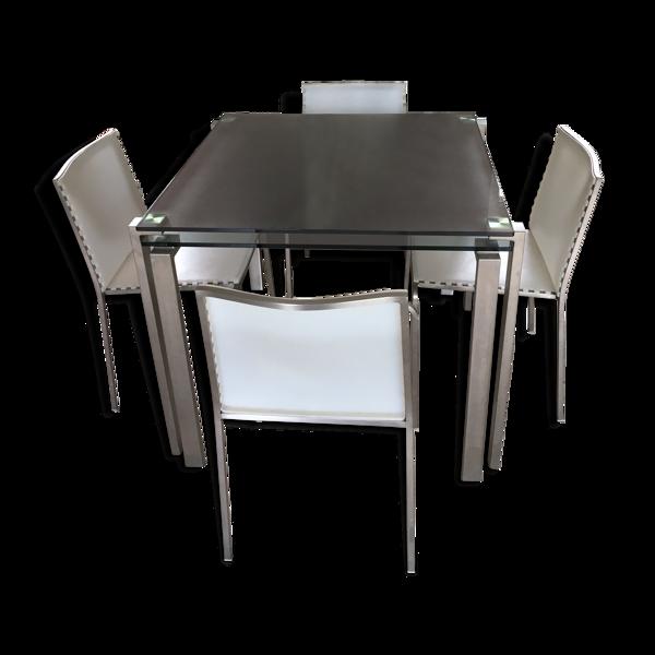 Tables Gigogne Zeritalia Jean Nouvel et ses 4 chaises