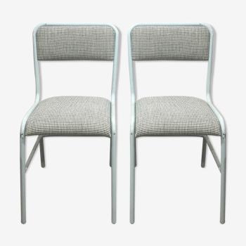 Paire de chaises ptt pied de poule