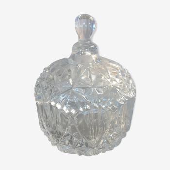 Chiseled crystal box - vintage