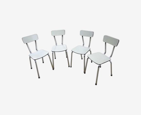 Lot de 4 chaises en formica
