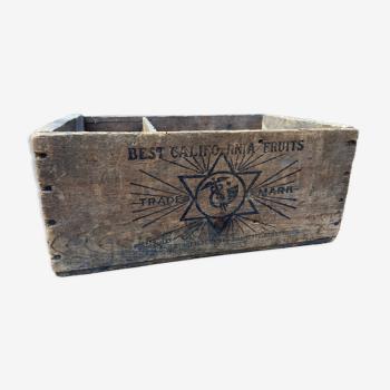 Caisse en bois vintage Usa