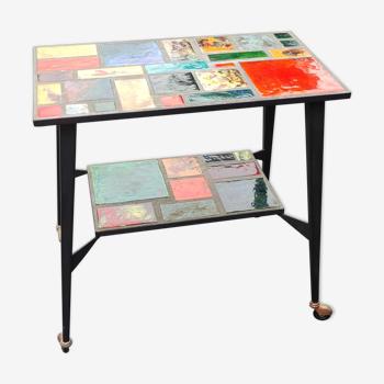 Table d appoint roulante Vintage