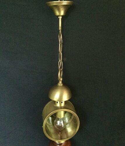 Lanterne bois et laiton