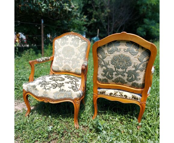 Paire de fauteuils Louis XV